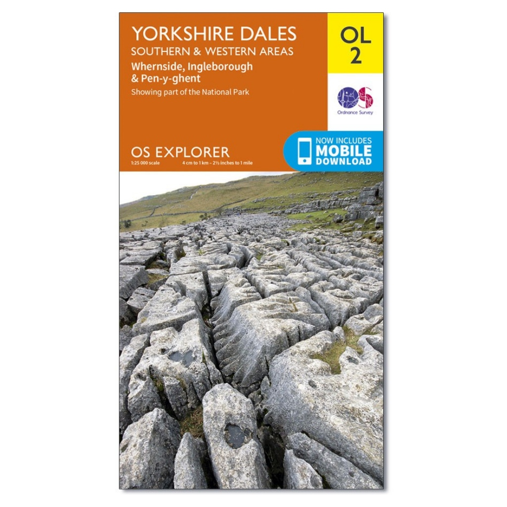 OS Explorer OL2 - Yorkshire Dales - Southern & Western