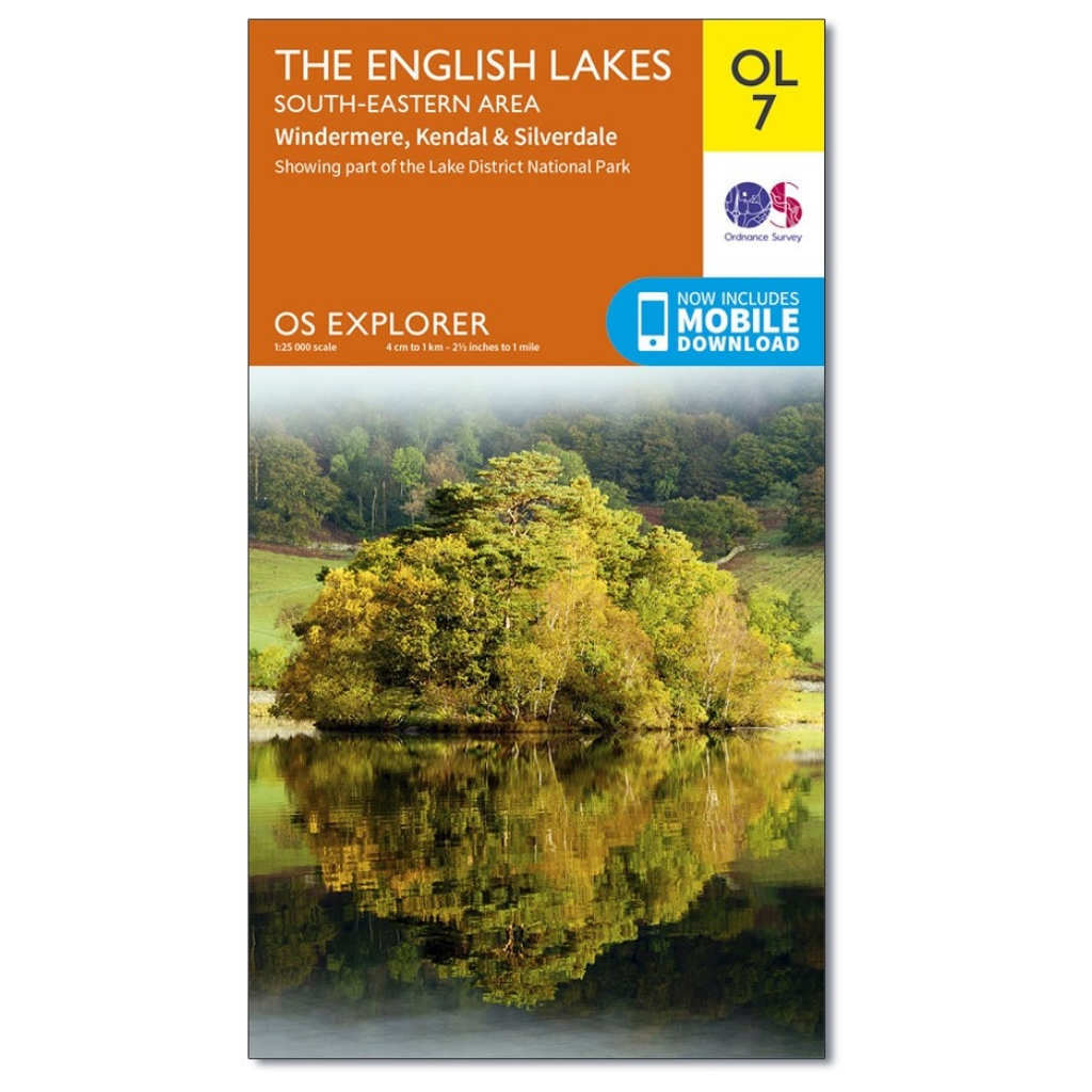 OS Explorer OL7 The Lake District - South Eastern area