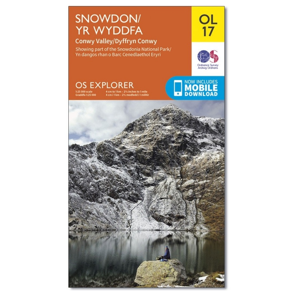OS Explorer OL17 Snowdon & Conwy Valley
