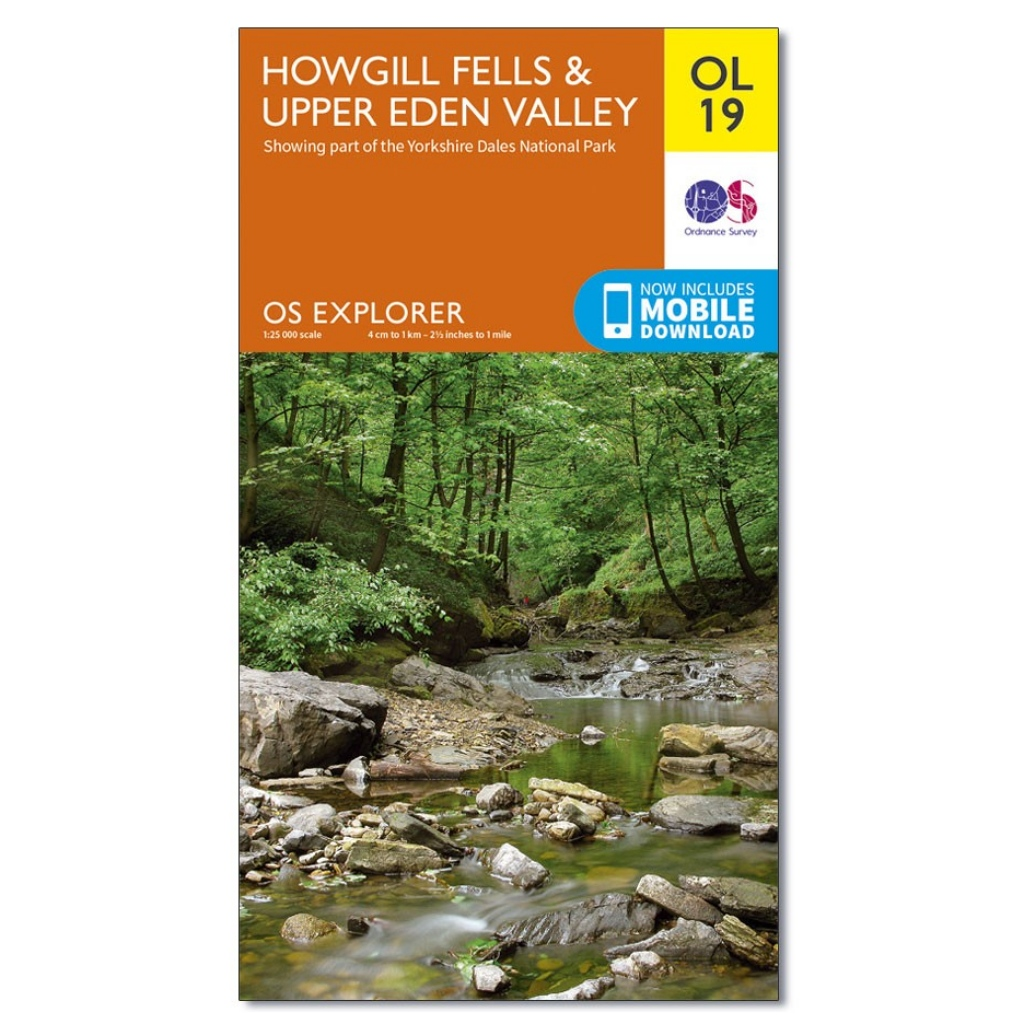 OS Explorer OL19 Howgill Fells & Upper Eden Valley