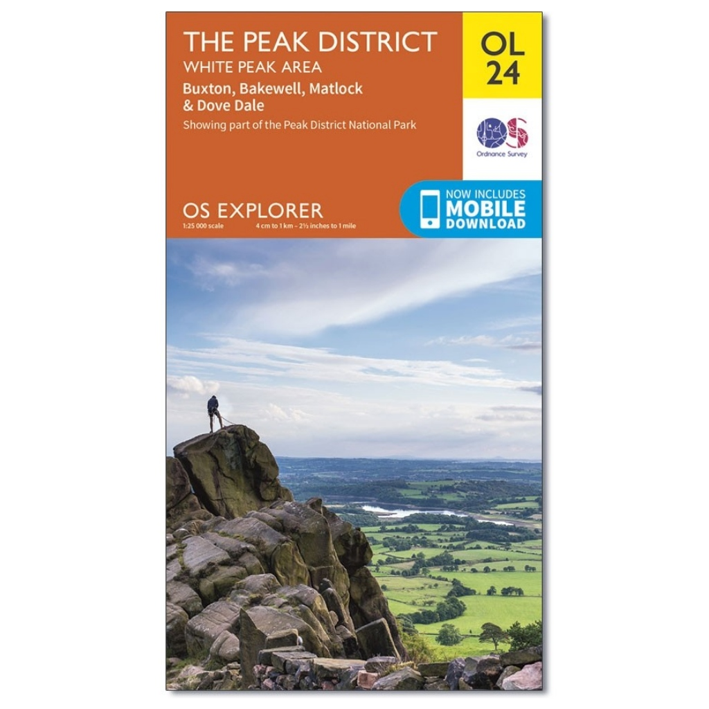 OS Explorer OL24 The Peak District - White Peak area