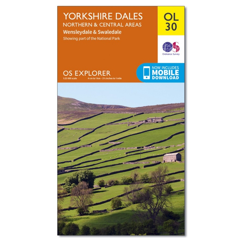 OS Explorer OL30 Yorkshire Dales - Northern & Central