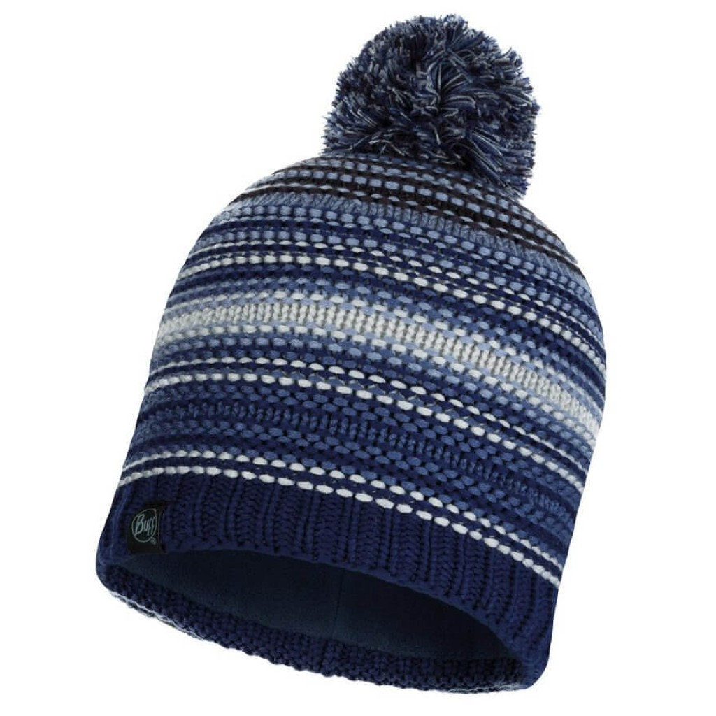 Buff Neper Knitted Hat - Blue Ink