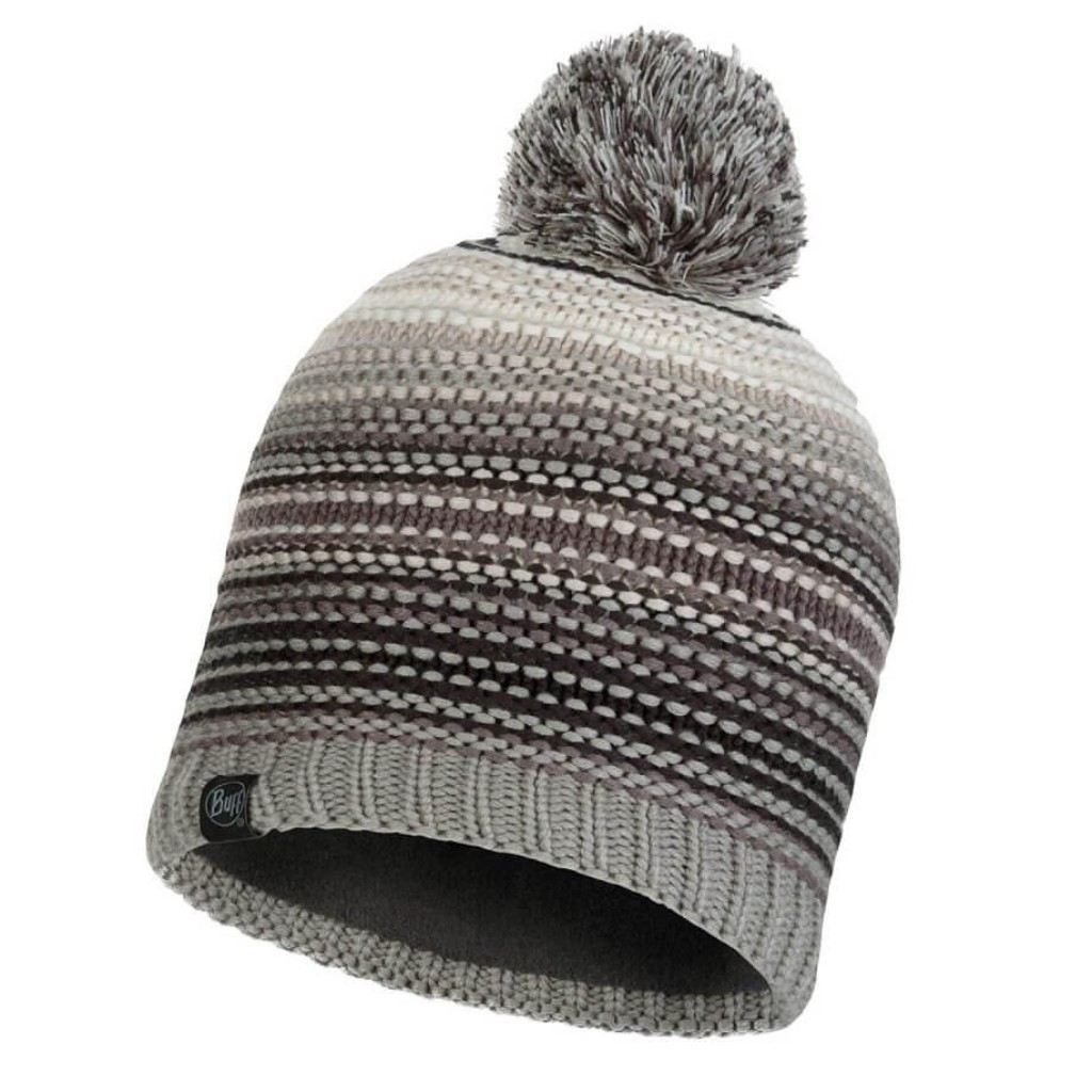 Buff Neper Knitted Hat - Eleni Grey