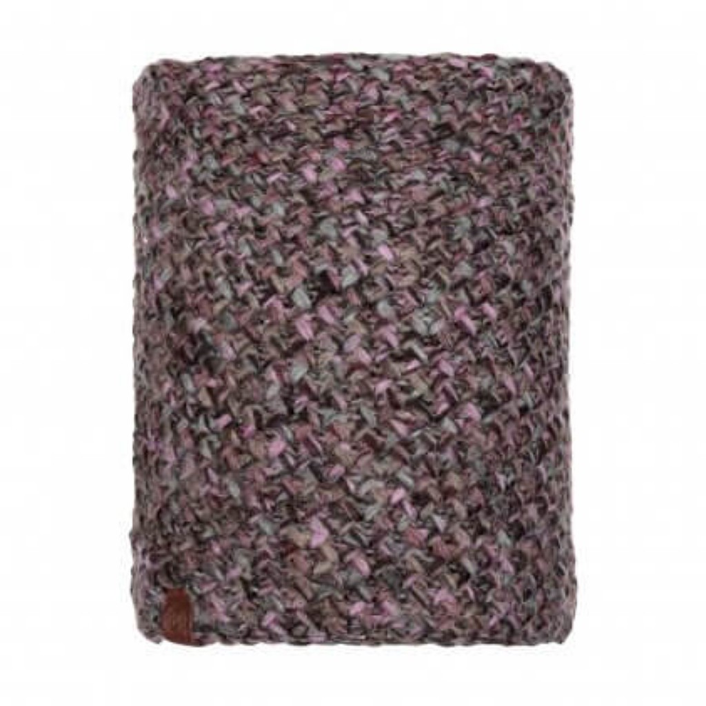 Buff Margo Knitted Neckwarmer - Plum / Grey Vigore