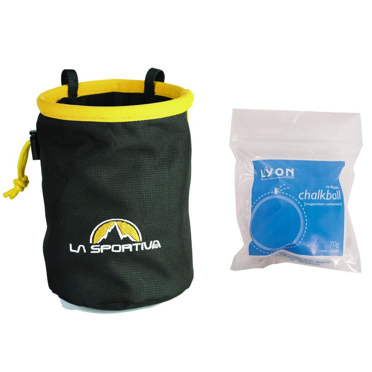 La Sportiva Chalk Bag & Lyon Refillable Chalk Ball