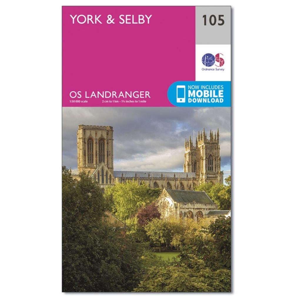 OS Landranger 105 - York & Selby