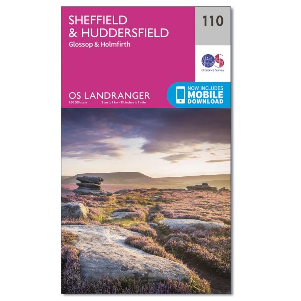 OS Landranger 110 - Sheffield & Huddersfield