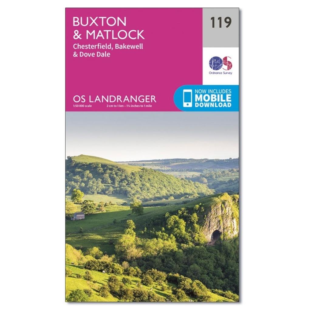 OS Landranger 119 - Buxton & Matlock