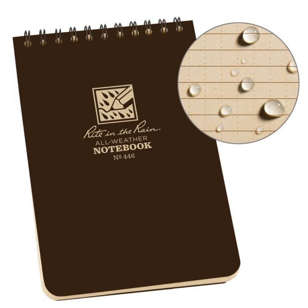 "Rite in the Rain Universal Notebook 4"" x 6"" Brown No.446"