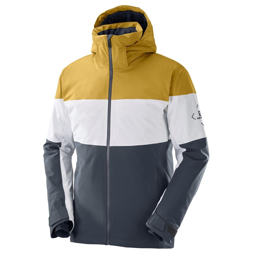 Salomon Slalom Ski Jacket Mens Ebony