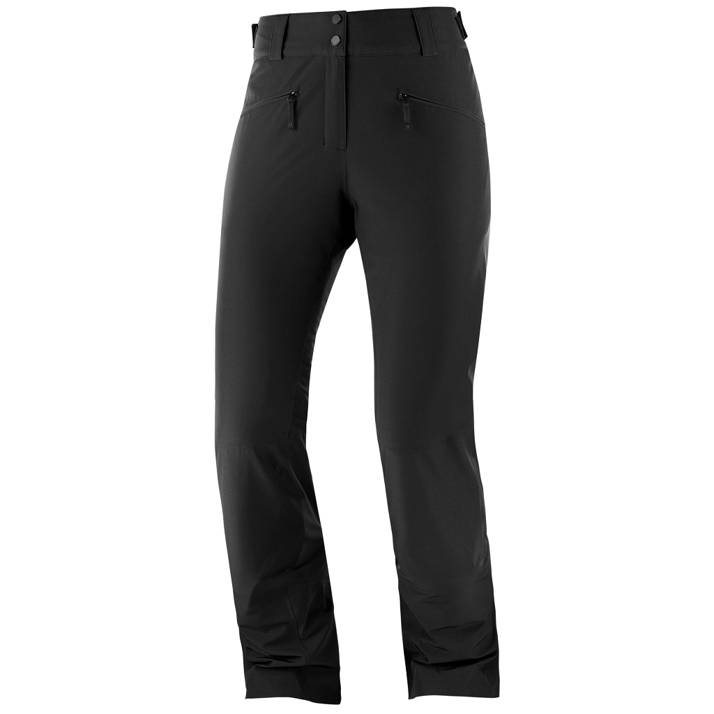 Salomon Edge Ski Pants Womens Ebony - Regular Leg Length