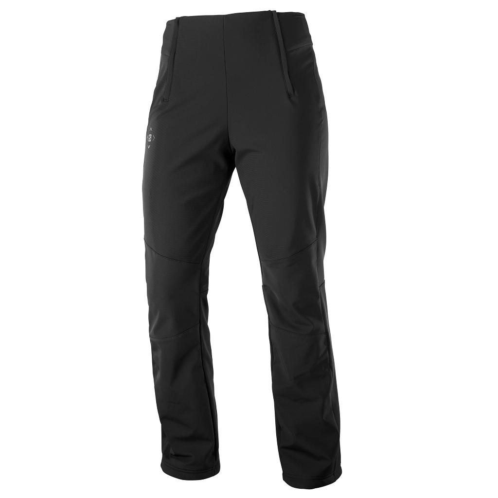 Salomon Reason Softshell Ski Pants Womens Black - Regular Leg Length