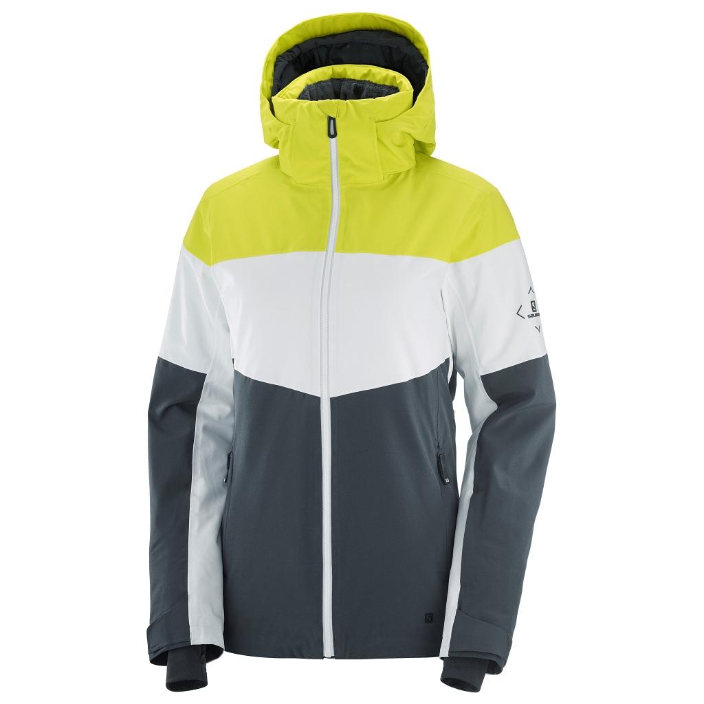 Salomon Slalom Ski Jacket Womens Evening Primrose