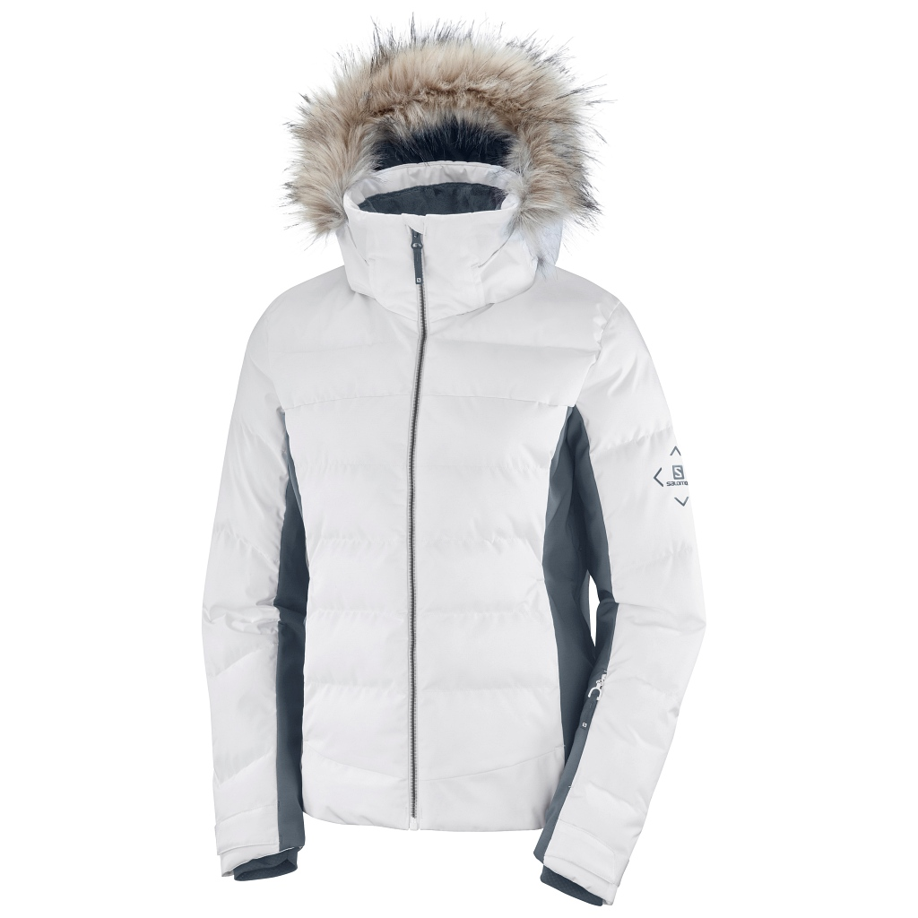 Salomon Stormcozy Ski Jacket Womens White